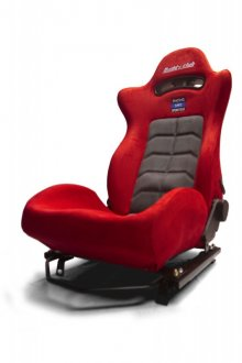 BUDDY CLUB RACING SPEC SPORT RECLINABLE SEAT: RED (W/ADAPTOR PLATES)